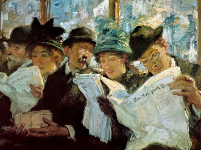 1912 Francis Luis Mora (Uruguayan-born American Painter, 1874-1940)  Morning News