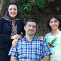 Bahareh Hajesfandiari, Mahdi Sadeghi, Anisa Sadeghi, Photo: Submitted by family